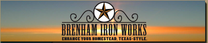 custom gates and fencing by Brenham Iron Works